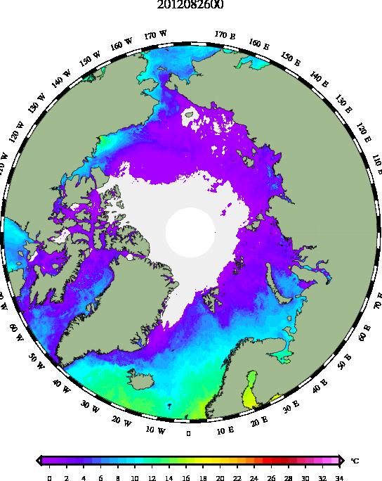 SSTs de l'Arctique