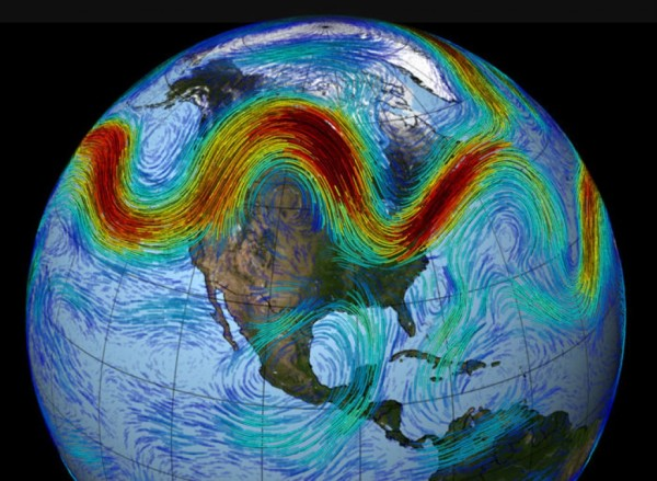 The meandering jet stream.