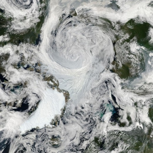 Great Arctic cyclone, August 2012