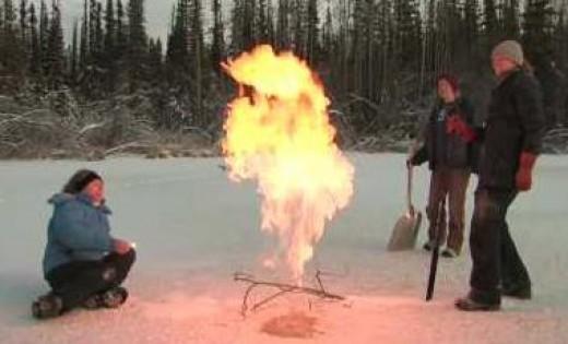 Methane flare up